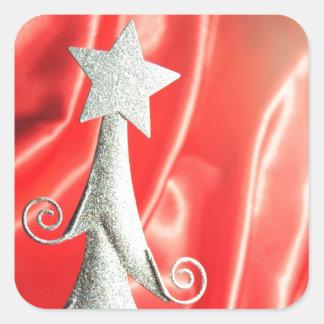 抽象的なクリスマスツリーのデザイン スクエアシール