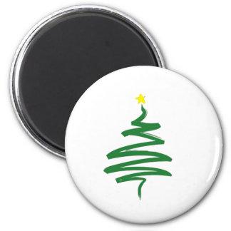 抽象的なクリスマスツリー マグネット