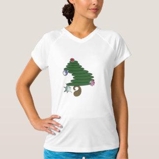 抽象的なクリスマスツリー Tシャツ