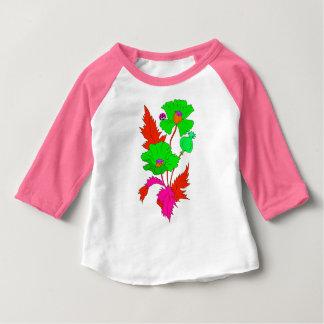 抽象的なケシおよびてんとう虫 ベビーTシャツ
