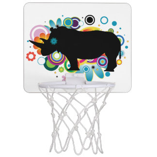抽象的なサイの小型バスケットボールのゴール ミニバスケットボールゴール