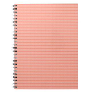 抽象的なサーモンピンクストライプなパターン ノートブック