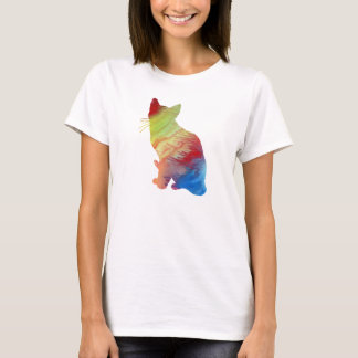抽象的なシャム猫のシルエット Tシャツ