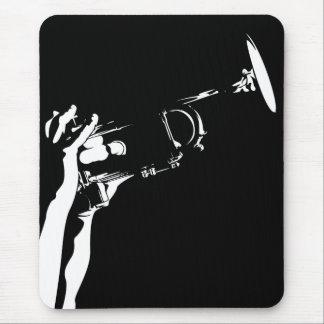 抽象的なジャズトランペットのマウスパッド マウスパッド