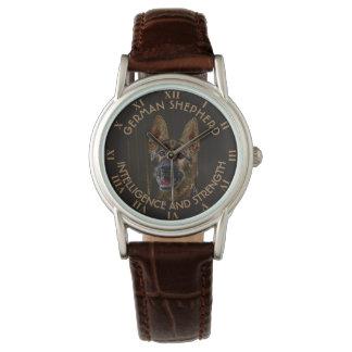 抽象的なジャーマン・シェパード犬 腕時計