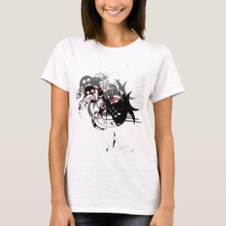 抽象的なスラッシュのデザイン Tシャツ