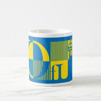 抽象的なタイポグラフィ コーヒーマグカップ