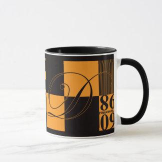 抽象的なタイポグラフィ マグカップ