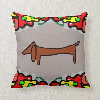 抽象的なダックスフント、ウィーナー犬 クッション