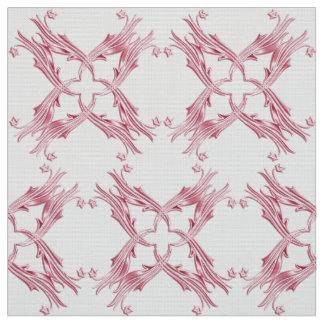 抽象的なダマスク織のピンクパターン ファブリック