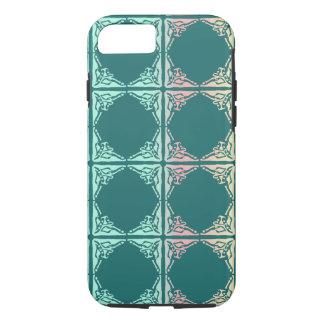 抽象的なティール(緑がかった色)のタイルの質 iPhone 8/7ケース