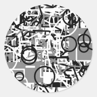抽象的なテンプレート ラウンドシール