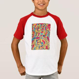 抽象的なデザイナーによる子供のワイシャツ Tシャツ