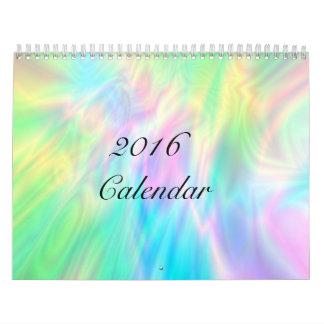 抽象的なデジタル芸術のカレンダー カレンダー