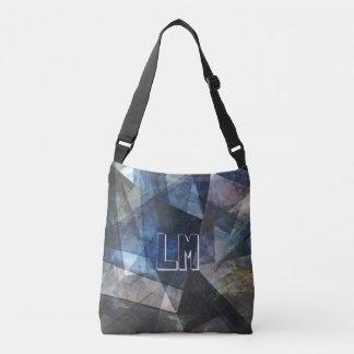 抽象的なデジタル芸術のモノグラムのテンプレートのバッグ クロスボディバッグ