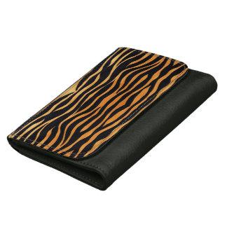 抽象的なトラのプリントの革財布