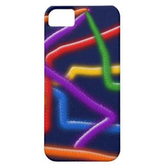 抽象的なネオン管のiphone 5カバー iPhone SE/5/5s ケース