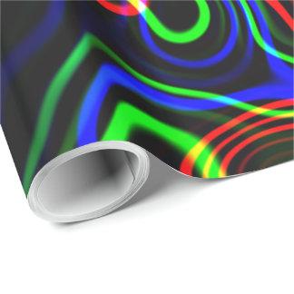 抽象的なネオン芸術1&2の選択 ラッピングペーパー