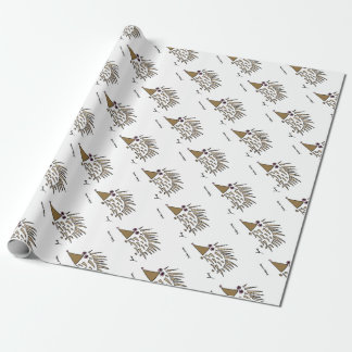 抽象的なハリネズミの包装紙 ラッピングペーパー