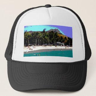 抽象的なハワイのビーチ キャップ