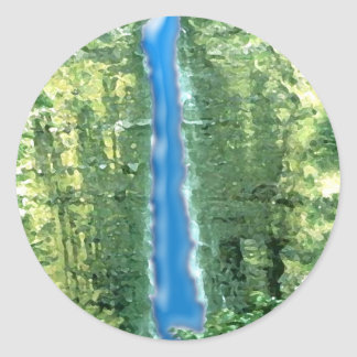 抽象的なハワイの滝 ラウンドシール