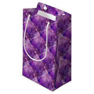 抽象的なバイオレット スモールペーパーバッグ