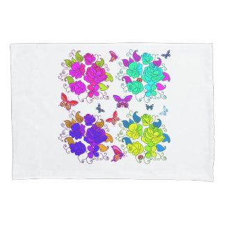 抽象的なバラの蝶 枕カバー