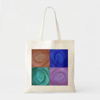 抽象的なバラ トートバッグ