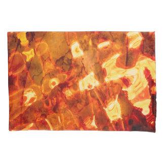 抽象的なパターンオレンジ色のライトの効果 枕カバー