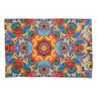 抽象的なパターンカラフルなオレンジおよび青のデザイン 枕カバー