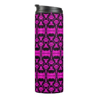 抽象的なパターンディバイダー02の紫色の黒 タンブラー