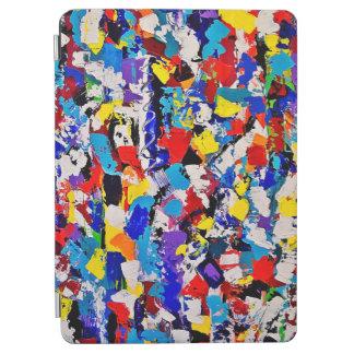 抽象的なパターン多彩でカラフルなペンキの軽打 iPad AIR カバー