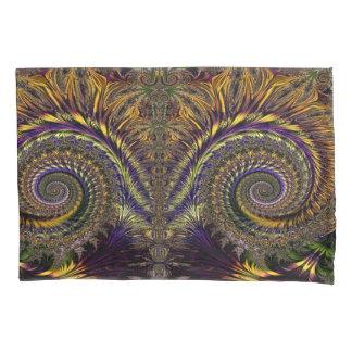 抽象的なパターン紫色およびブラウン 枕カバー