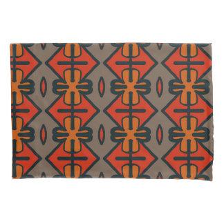 抽象的なパターン継ぎ目が無い灰色およびオレンジ 枕カバー