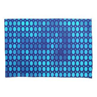 抽象的なパターン青の円 枕カバー