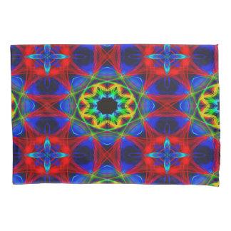 抽象的なパターン青緑および赤の背景 枕カバー