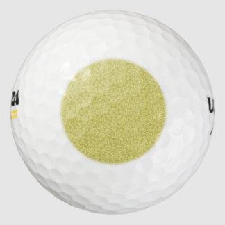 抽象的なパターン黄色 ゴルフボール