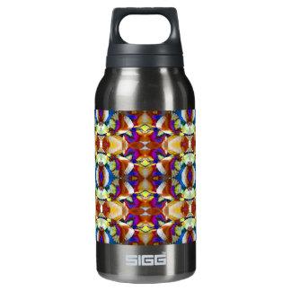 抽象的なパンジーの花のフラクタル 断熱ウォーターボトル