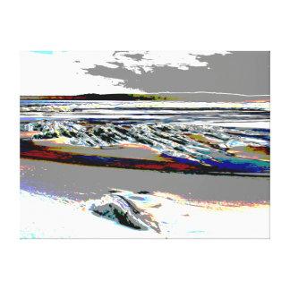 """""""抽象的なビーチのキャンバス"""" キャンバスプリント"""