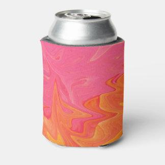 抽象的なピンクおよびイエロー・ゴールドのソーダクーラーボックス 缶クーラー