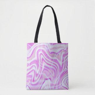 抽象的なピンクの渦巻のデザイン トートバッグ