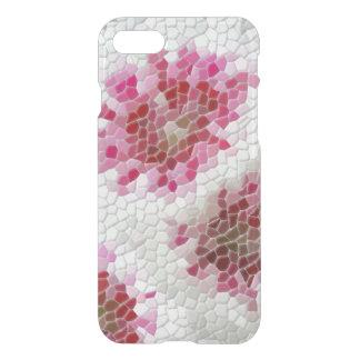 抽象的なピンクの花のモザイク模様のiPhone 7の場合 iPhone 8/7 ケース