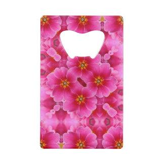 抽象的なピンクの蘭パターン ウォレット 栓抜き