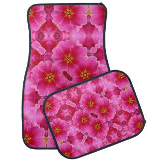 抽象的なピンクの蘭パターン カーマット