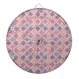 抽象的なピンクの青い紫色のアーガイル柄のなパターン ダーツボード