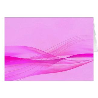 抽象的なピンクはメッセージカードを振ります カード