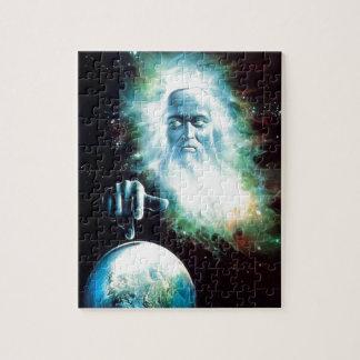 抽象的なファンタジーのゼウスは世界を見ます ジグソーパズル