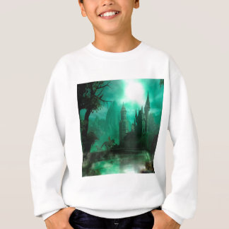 抽象的なファンタジーのヒスイの月光の城 スウェットシャツ