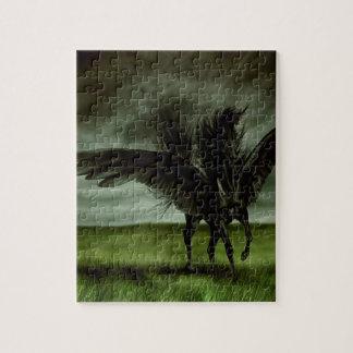 抽象的なファンタジーの悪魔の馬Pegassus ジグソーパズル