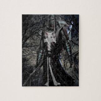抽象的なファンタジーの黒騎士のペスト ジグソーパズル